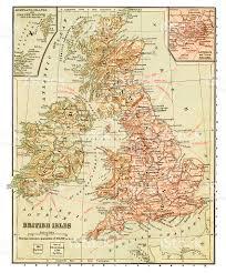 British Isles Map British Isles Old Map Stock Vector Art 173989897 Istock