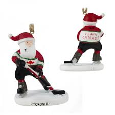 canadian santa hockey player ornament personalized