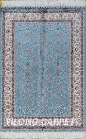 Area Rug Materials Blue Rug Turkish Carpet Silk Rug Tabriz Rugs