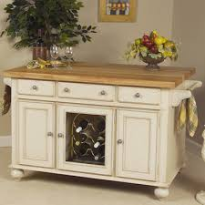 buy signature kitchen island with butcher block top finish