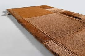 Patchwork Cowhide Contemporary Rug Plain Patchwork Cowhide Palomino