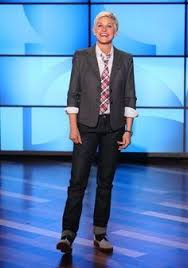 what is in style for a 70 year old woman why does ellen degeneres dress like a 70 year old man on her show