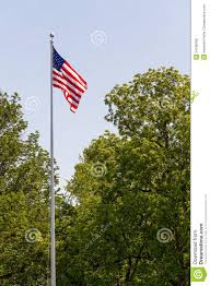 Us Flag Pole Us Flag On Tall Flag Pole Stock Photo Image Of History 24798428
