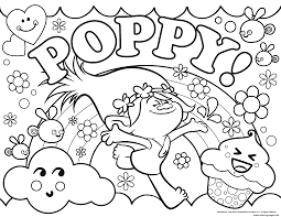 trolls poppy coloring pages printable