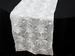 pink rosette table runner paradise rosette table runners white weddings 4 pinterest