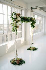 wedding arches made from trees simple wedding arch made with 3 birch branches salal and ferns