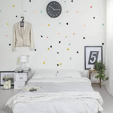 Girly Wall Stickers Geometric Triangle Wall Stickers Bedroom Wall Stickers