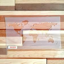 World Map Stencil by World Map Stencil Bullet Point Journal Travel Stencil Fits