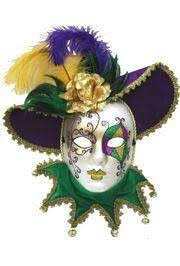 marti gras masks purple green and gold venetian masquerade mask painted