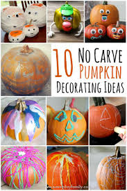 halloween costumes for kids pumpkin 10 easy no carve pumpkin decorating ideas your family will love