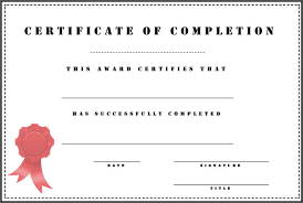 customizable completion certificate award template for employee