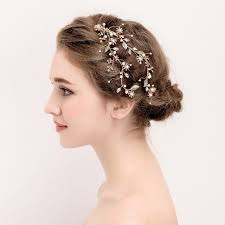 bridal hair clip dower me handmade gold leaf hair clip bridal hair vine accessories