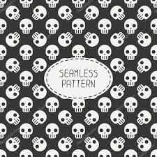 halloween background papers geometric hipster seamless pattern with skulls and bones wrapping