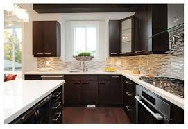 enchanting kitchen backsplash with dark cabinets lovely kitchen