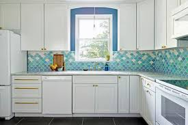 kitchen backsplash blue 29 beautiful blue kitchen design ideas