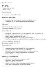 free custodian resume samples sample objectives janitor entry