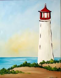 painting lighthouse step by step arty party painting cl