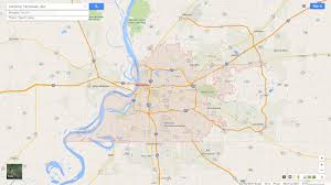 Tennesse Map Memphis Tennessee Map
