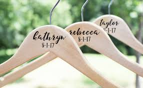 personalized wedding hangers wedding hanger personalized bridesmaid hangers wooden wedding