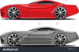 sports cars side view abstract design sport car side view stock vector 337576391