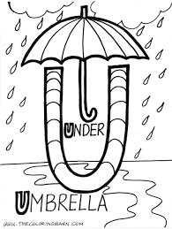 letter u coloring page free download