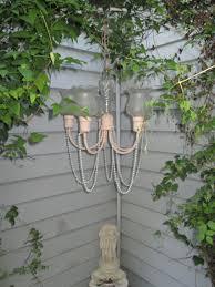 flower pot solar light created this pink shabby chic repurposed chandelier for the garden