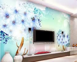 online get cheap full wallpaper aliexpress com alibaba group beibehang papel de parede interior wallpaper full vector three dimensional murals fantasy blue flowers forest background wall