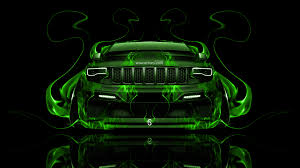 green jeep cherokee 2014 jeep grand cherokee srt8 front fire abstract car 2014 el tony