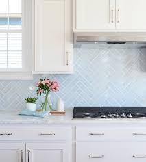 blue backsplash kitchen kitchen back splashes with blue herringbone backsplash errolchua