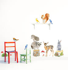 Woodland Forest Peel And Stick Forest Animals Woodland Animals Set Nursery Woodland Art