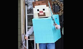 Minecraft Costume Halloween Minecraft Steve Halloween Costume Inhabitots Green Halloween Contest