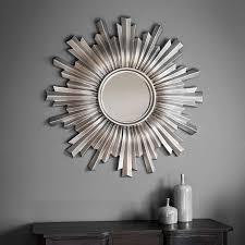 linden silver 107cm wall mirror sunburst mirror walls and bedrooms