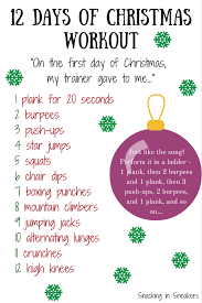 the 12 days of workout eat smart move more weigh less