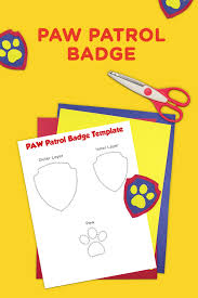 paw patrol printable badge template nickelodeon parents