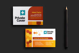 health insurance business card template for photoshop u0026 illustrator
