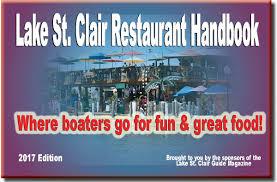 2017 lake st clair restaurant lake st clair restaurant bar handbook 2017 lake st clair guide