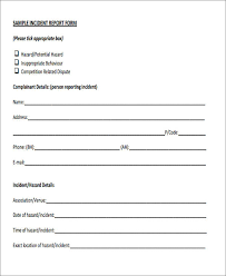 medication incident report form template 47 incident report sles