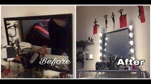 vanity mirror with lights ikea diy hollywood vanity mirror ikea musik lights youtube