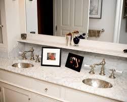 bathroom mirror shelf houzz