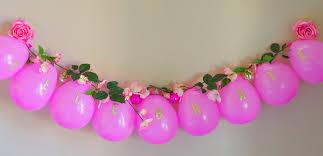 pink garland pink flower balloon garland val event gal