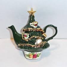 royal albert christmas tree teapot small from fransfinds on ruby lane