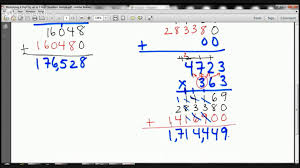 5th grade multiplying 4 digit by 3 digit numbers lesson fullerton