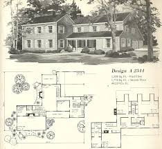 old colonial house plan stupendous vintage plans 1970s charvoo