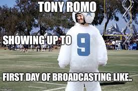 Tony Romo Meme Images - safety first for romo imgflip