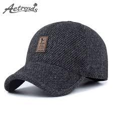 aetrends woolen knitted design winter baseball cap thicken - Cap Designer