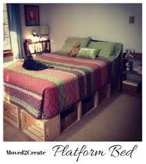 Make Wood Platform Bed by Diy Wood Crate Platform Bed Moved To Create
