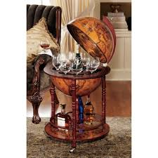 world map earth globe bar wine liquor furniture storage cabinet
