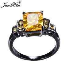 aliexpress buy junxin new arrival black aliexpress buy junxin yellow ring black gold