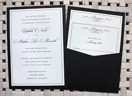 pocket wedding invitations formal black with burgundy scroll accents clutch pocket wedding