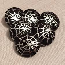 halloween buttons halloween buttons spiders web black gothic unusual buttons